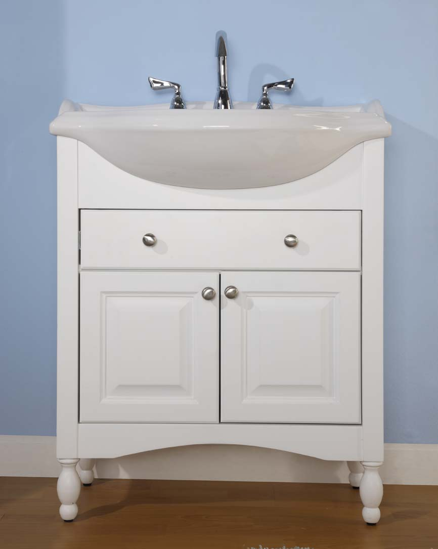 Narrow depth bathroom vanity - Windsor 30