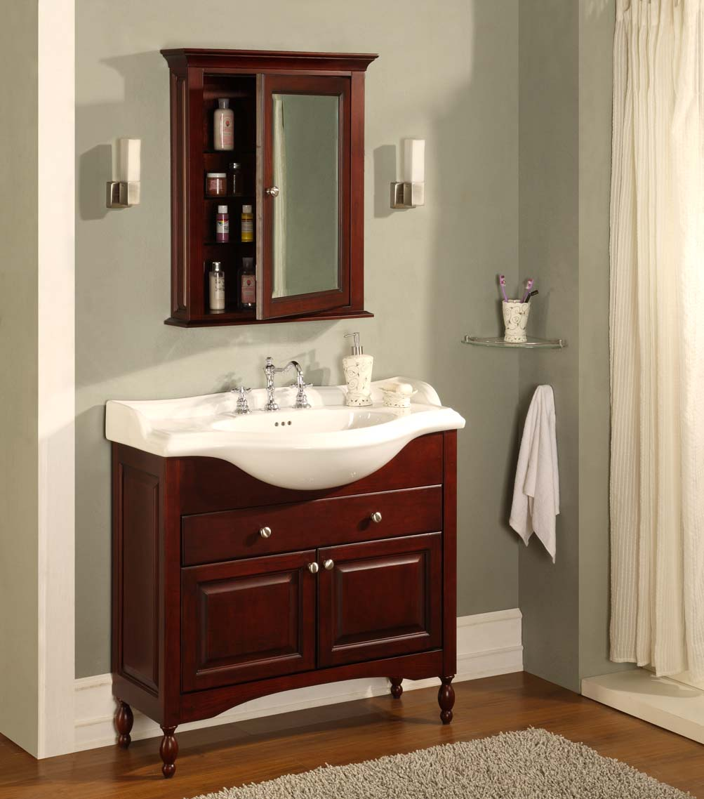 industries windsor 38 shallow depth vanity with ceramic sinktop w38