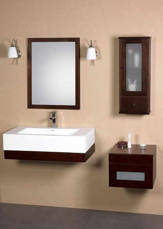 Ronbow Adina 36 Quot Ada Vanity Wall Mount Wood Frame
