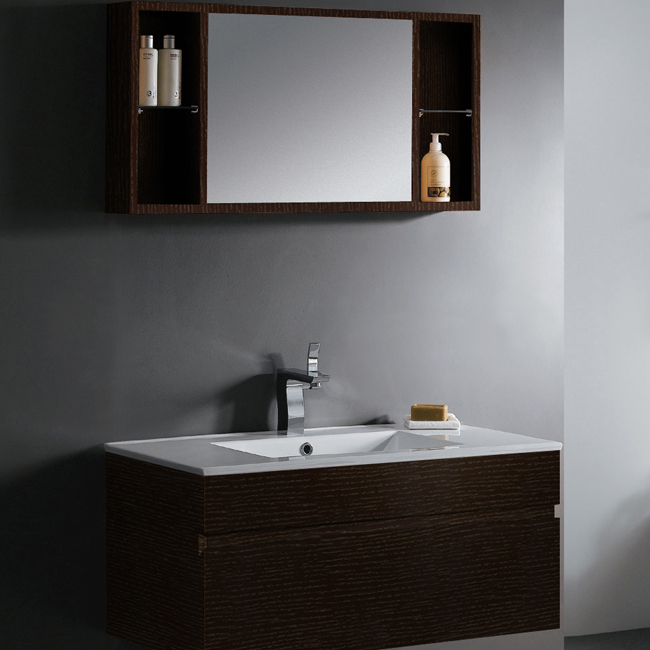 Vigo 35 Inch Single Bathroom Vanity With Mirror And Shelves | VG09008104K