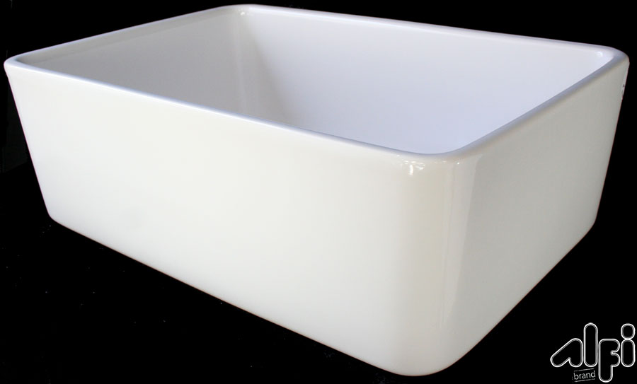 Alfi Brand 23 Fireclay Farmhouse Kitchen Sink AB503 DesigningDepot